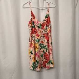 Express floral flirty summer dress